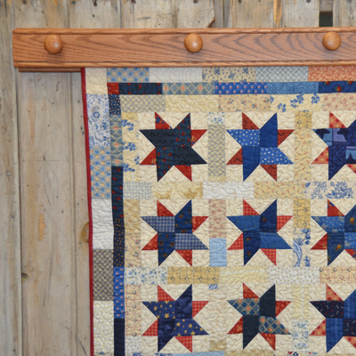 Knobs Quilt Displays without Shelf crafted by DWR Custom Woodworking