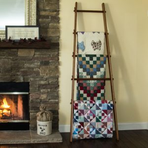 Handcrafted Apple Ladder Quilt Rack by DWR Custom Woodworking