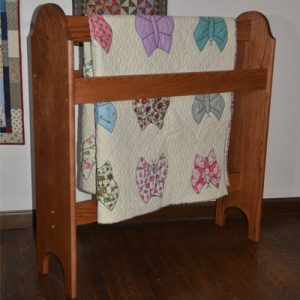 Wood quilt stand handcrafted by DWR Custom Woodworking